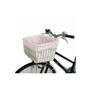 マルト MARUTO 前バスケットカバー Front Basket Cover ピンクチェック|doujimabuhin