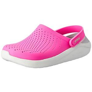 crocs クロックス サンダル LiteRide Clog ライトライド クロッグ Electric Pink/Almost White 22.0cm|dp-express