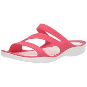 crocs クロックス Women's Swiftwater Sandal スウィフトウォーター サンダル ウィメン Poppy/White 24.0cm|dp-express