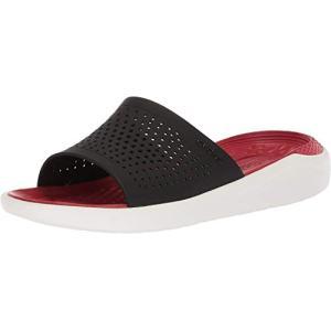 crocs クロックス サンダル LiteRide Slide ライトライド スライド Black/White 22.0cm|dp-express