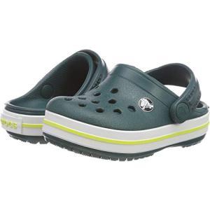 crocs クロックス サンダル Kids' Crocband Clog クロックバンド クロッグ キッズ Evergreen 12.0cm|dp-express