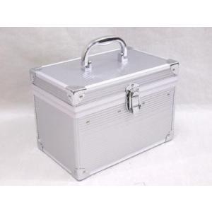 本物の質感 鏡・中皿付 アルミ横型BOX dr-battery
