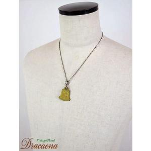 古着 雑貨 1972年 ベル型 ブラス(真ちゅう)製 「188」 刻印 ドッグタグ DOGTAG ネックレスにも!!|dracaena
