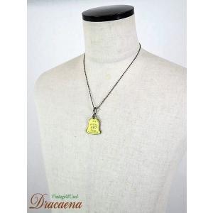 古着 雑貨 1972年 ベル型 ブラス(真ちゅう)製 「467」 刻印 ドッグタグ DOGTAG ネックレスにも!!|dracaena