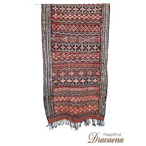 古着 アンティーク ギリシャ 目のモチーフ 民族 ウール キリム (ラグ) マット 長方形 160×60 インテリア|dracaena