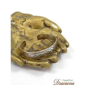古着 雑貨  メキシカン ターコイズ シルバー ブレスレット バングル ジュエリー アンティーク 小物 古着|dracaena