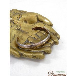 古着 雑貨 シンプル メキシカン シルバー 925 ブレスレット バングル ジュエリー アンティーク 小物 雑貨 古着|dracaena