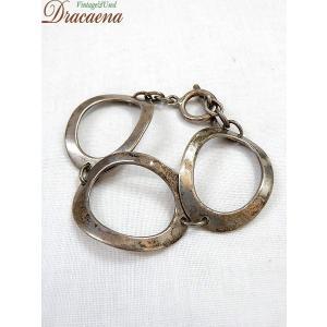 古着 雑貨 3連リング ブレスレット シルバー 925 ブレスレット バングル ジュエリー アンティーク 小物 雑貨 古着|dracaena
