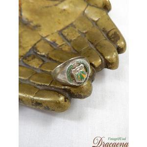 古着 雑貨 刻印 ロゴ シルバー ジュエリー メキシコ リング 指輪 19号 アンティーク 小物 雑貨 古着|dracaena