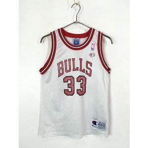 キッズ 古着 Champion製 Chicago BULLS No 33 「PIPPEN ピッペン」 NBA メッシュ タンクトップ 10歳以上 子供服 古着 dracaena