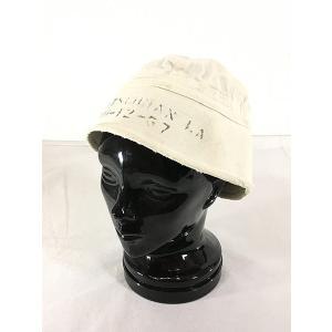 雑貨 古着 70s 米軍 US Navy ステンシル ミリタリー セーラー ハット 白 M位 帽子 古着|dracaena