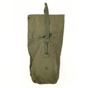 雑貨 古着 70s 米軍 US ARMY ミリタリー ステンシル キャンバス 巾着型 ダッフル バック 大型 古着|dracaena