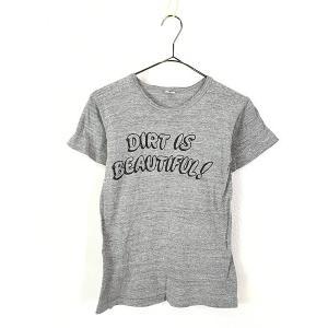 キッズ 古着 70s USA製 Russell 「DIRTS IS BEAUTIFUL!」 両面 100%コットン Tシャツ 7歳以上 子供服 古着 dracaena