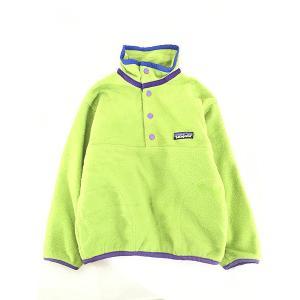 キッズ 古着 98s Patagonia パタゴニア スナップT シンチラ フリース ジャケット 6歳位 子供服 古着 dracaena