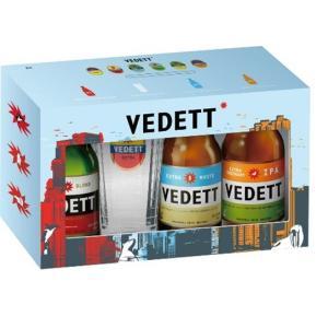 <賞味期限2018年5月末日の為、在庫処分特価!!> 【専用グラス付き!】ヴェデット トライアル(お試し) 3本セット (330ml×3本) beer