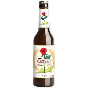 <特価品!> サランヘ ホワイトエール 5.2% 330ml 韓国ビール