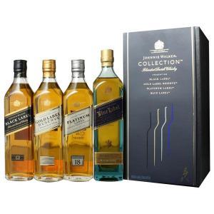 <飲み比べやプレゼントに!> ジョニーウォーカー ザ・コレクション 200ml×4本 (ブラック・ゴールド・プラチナ・ブルー)