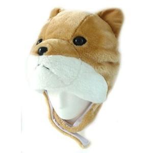 在庫あり【送料無料】アニマルハット しば犬 犬の帽子 被り物 戌年 干支 2018年|dragon-bee
