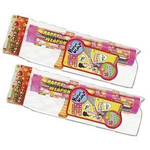 あすつく ハッピーウェポン 2本セット パーティー クラッカー パーティー イベント 宴会 お祝い 飛び出す おもしろグッズ キラキラ テープ ピンク