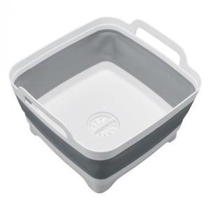 あすつく 排水できるモノトーン洗い桶 コンパクト キッチン シリコン 水栓 食器洗い シンク たため...