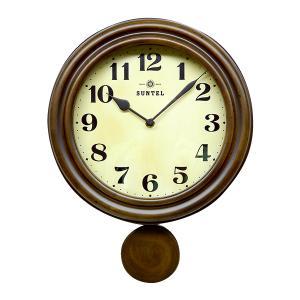 日本製 レトロ電波振り子柱時計 アンティークブラウン DQL669 昭和初期 時計 イメージ レトロ 電波 振り子時計 掛時計|dragon-bee