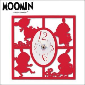 あすつく  ムーミン シルエット時計 リトルミイ(たくさん) KC-5017 掛時計 壁掛け時計|dragon-bee