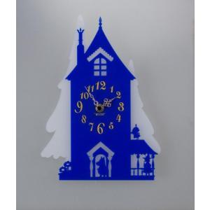 あすつく  ムーミン シルエット時計 ムーミン屋敷 KC-5018 掛時計 壁掛け時計 MOOMIN ウォールクロック|dragon-bee
