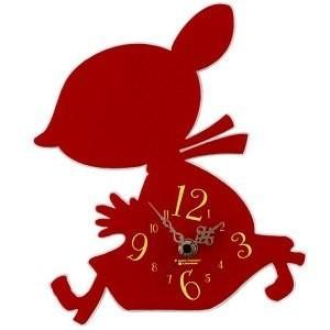 あすつく ムーミン シルエット 時計 リトルミイ シルエット時計 リトルミィ ミイ KC5021 掛時計 壁掛け時計|dragon-bee