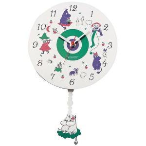 在庫あり【送料無料】MOOMIN 時計 振り子 白 KC-5063 ムーミン 壁掛け時計 振り子時計|dragon-bee