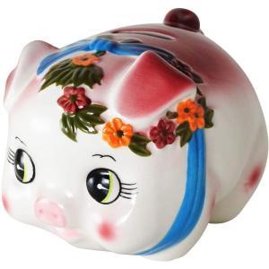 あすつく  豚の貯金箱 ピギーバンク 豚 貯金箱 特大 ピンク かわいい貯金箱|dragon-bee