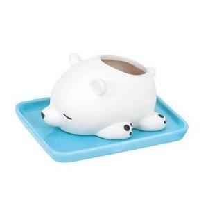 あすつく  加湿器 ねむねむアニマルズ ラッキー 素焼き 陶器 気化式 加湿 卓上 受け皿付き 電気不要 水洗い インテリア コンパクト 51018-11 りぶはあと 正規品|dragon-bee