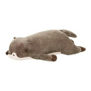 あすつく  プレミアムねむねむ抱きまくらL くるり 58208-33 カワウソ 抱き枕 ぬいぐるみ ...