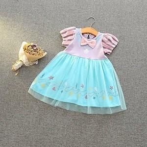 あすつく  アリエル ドレス 衣装 女の子プリンセスワンピース 2号色 110cm 仮装 ハロウィン...