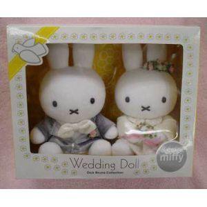 ミッフィー セキグチ ブルーナウェディングドール 洋装 かわいい結婚式マスコット ウエディング 人形...