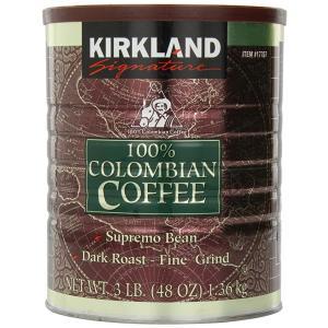 【KIRKLAND カークランド】 100%コロンビアコーヒー 1.36kgレギュラーコーヒー(粉)...