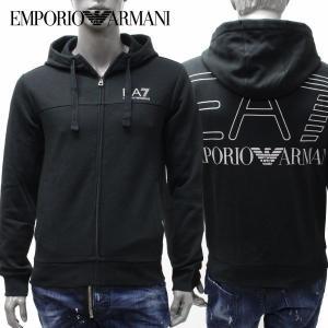 【2018-19AW】エンポリオ・アルマーニ EA7 バックBIGプリント パーカー【ブラック】 6ZPM45 PJ07Z 1200/EMPORIO ARMANI/m-tops