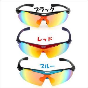 スポーツサングラス 偏光レンズ クリアレンズ  交換用5枚付き uvカット メンズ 度付きレンズ装着も可能|dream-brother|02