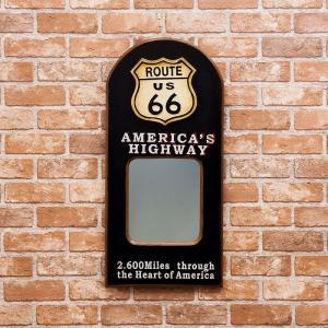 ウォールミラー(壁掛け鏡) 「ROUTE 66」|dream-f