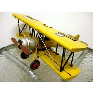 ブリキのおもちゃ 複葉機A・イエロー|dream-f