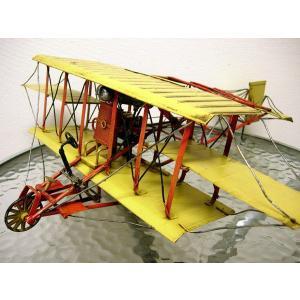 ブリキのおもちゃ 複葉機B・イエロー1|dream-f