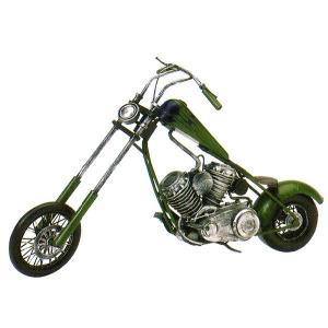 ブリキのおもちゃ レトロバイク・チョッパーグリーン...
