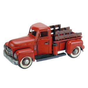 ブリキのおもちゃ ピックアップトラック・レッド|dream-f