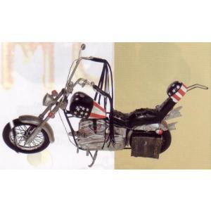 ブリキのおもちゃ レトロバイク・チョッパーアメリカン3...