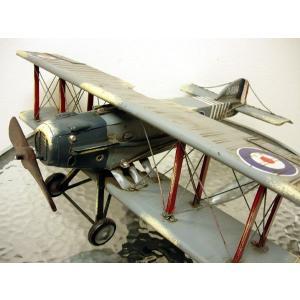 ブリキのおもちゃ 複葉機D・グレー|dream-f