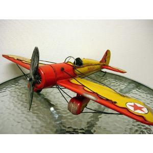 ブリキのおもちゃ 飛行機A・レッド1|dream-f