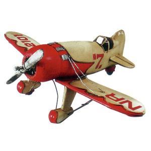 ブリキのおもちゃ 飛行機B・レッド2|dream-f