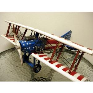 ブリキのおもちゃ 複葉機E・スターブルー|dream-f