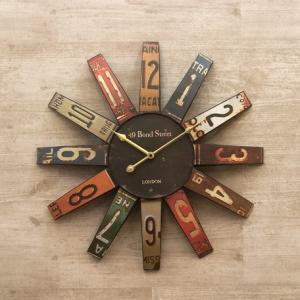 アンティーク クロック(壁掛け時計) 「ナンバープラット」|dream-f