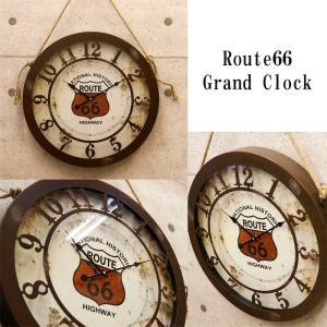 アンティーク エンボスクロック(壁掛け時計) 「ルート66 グランドクロック」|dream-f