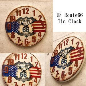 アンティーク エンボスクロック(壁掛け時計) 「US ルート66」|dream-f